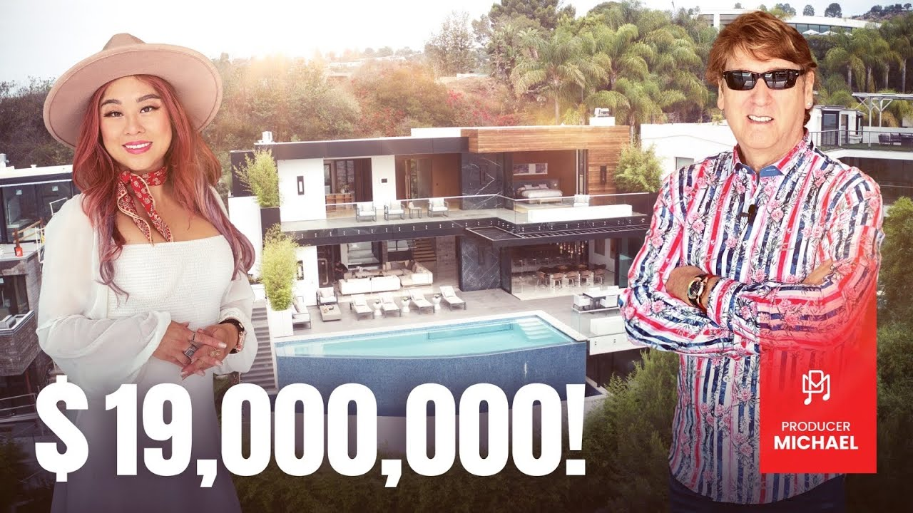INSIDE A $19,000,000 HOLLYWOOD HILLS MANSION WITH NAUGHTY SWIMMING POOL!