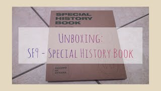 Unboxing: SF9 에스에프나인 - SPECIAL HISTORY BOOK Special Album