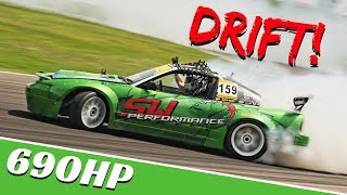 Nissan 180sx S13 powered by RB25DET engine - SW Performance Drifting - Sam Woo Pro Drifter OnBoard!