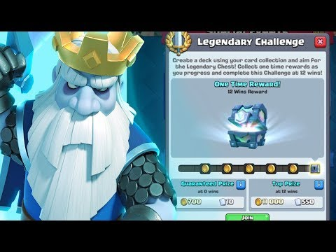 Search for Best Legendary Challenge Decks without Royal Ghost in Clash Royale