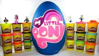 Мой маленький пони ¦ Гигантское яйцо Плей До с сюрпризами МОЙ МАЛЕНЬКИЙ ПОНИ