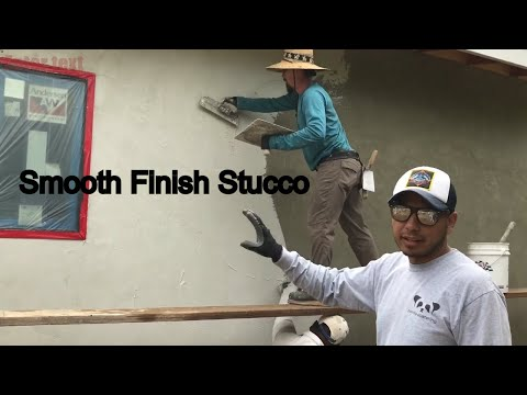 How To Apply Smooth Finish Stucco
