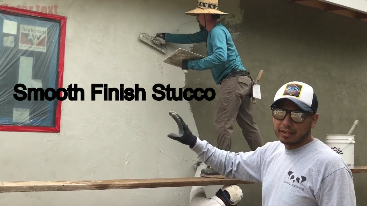 How To Apply Smooth Finish Stucco Youtube