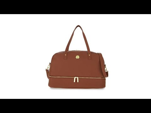 f95a492831b JOY Smart Chic Leather Weekender with Secret Section - YouTube