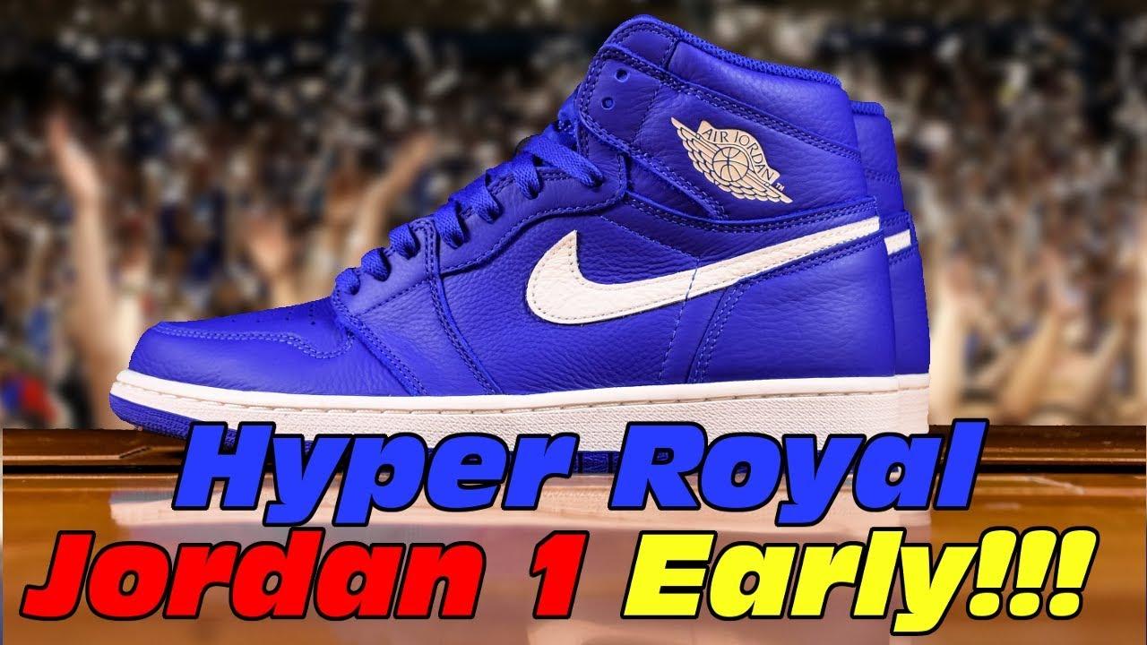 best website 148b1 d02ee Air Jordan 1 Retro ''Hyper Royal'' Early First Look!!! Air Jordan 1 He Got  Game Sneaker Review!