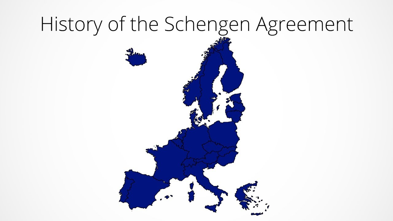 History Of The Schengen Agreement Every Year 1985 2017 Youtube