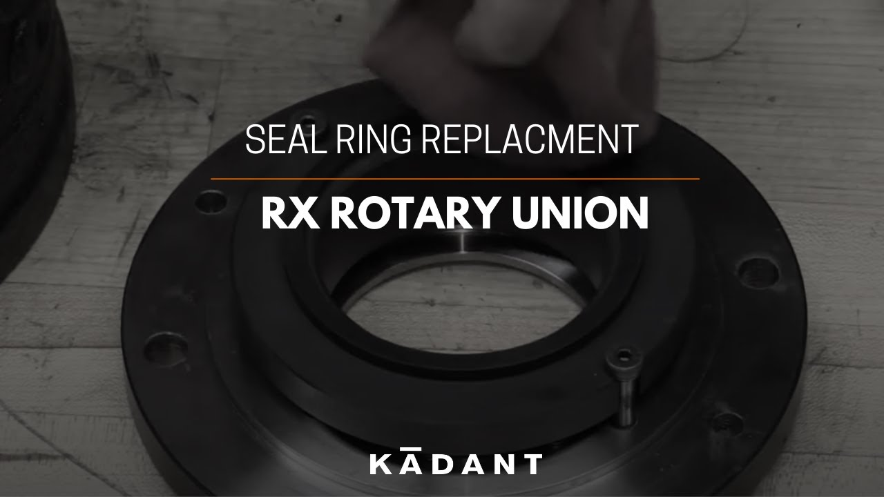 RX Rotary Union - Seal Ring Replacement Instructions