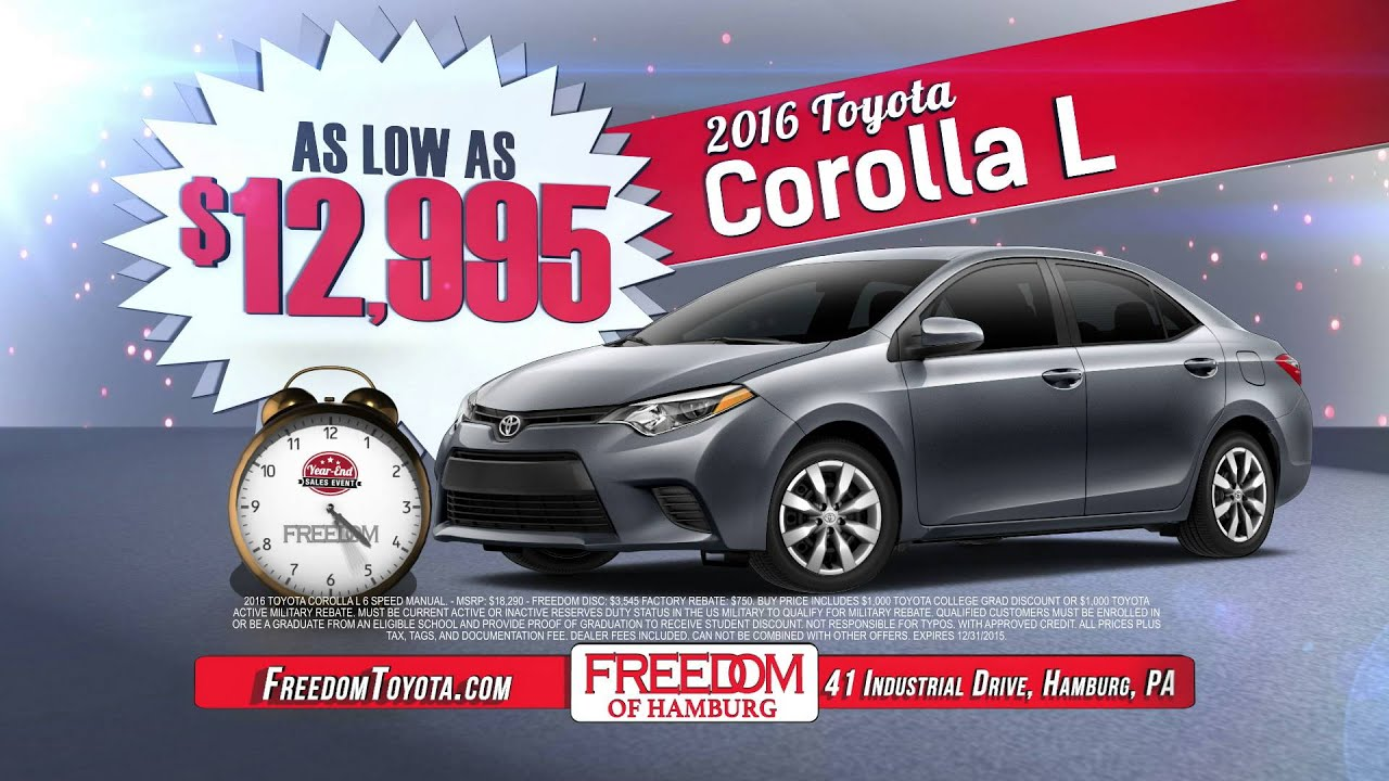 Freedom Toyota Of Hamburg Year End Sales Event