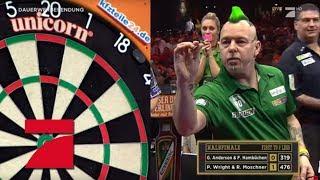 1. Halbfinale | Ruth Moschner & Peter Wright vs. Fabian Hambüchen & Gary Anderson | Promi Darts WM