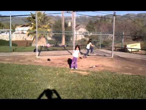 Little league batting practice