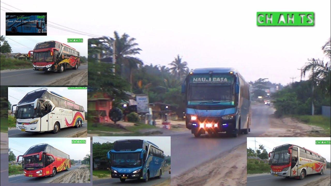 Bus Bus Malam lintas pagi 5 km lagi menuju Rumah makan Kandis , Istirahat ,