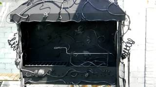 Красивое барбекю из металла с крышей с вытяжкой и с трубой для дачи ковка мангал(, 2016-09-22T10:03:12.000Z)