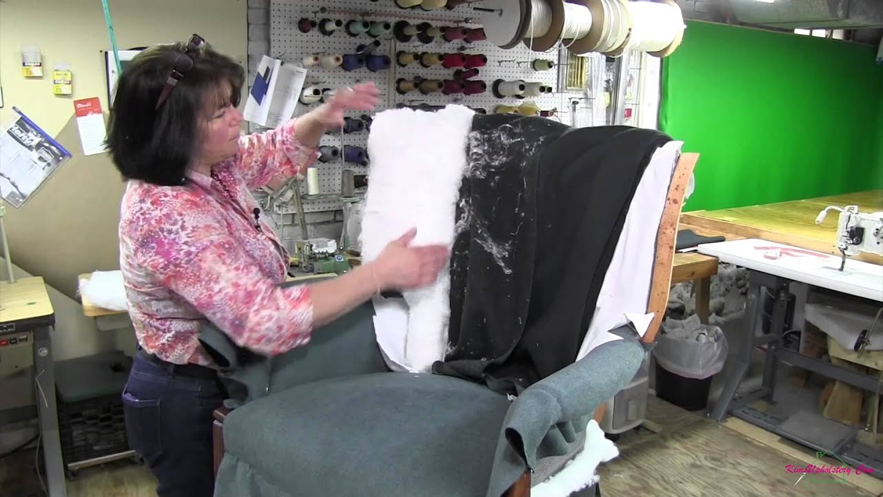 reupholster office chair back outdoor circle upholstering a channel part 4 youtube