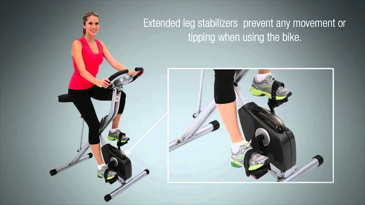 1200 Exerpeutic Folding Upright Bike With Pulse Youtube