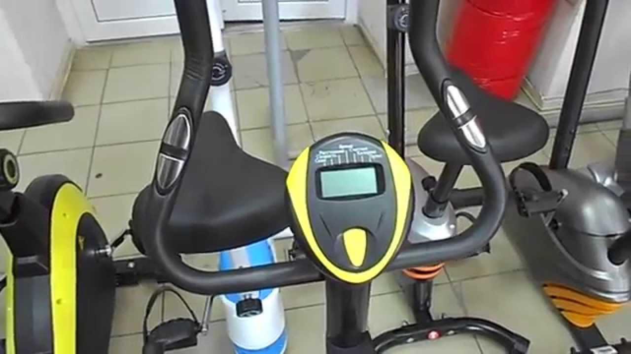 Велотренажёр (спин-байк) технические характеристики: • посадка: вертикальная • система нагружения: колодочная • максимальный вес пользователя:
