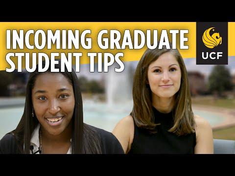 2016 Graduate Orientation: Incoming Graduate Student Tips