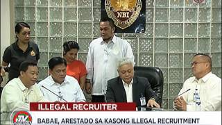 Babae, nangako ng trabaho sa Japan, arestado sa illegal recruitment