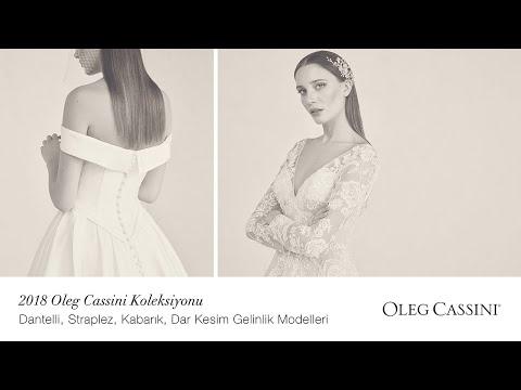 11c00fdb7c2aa 2018 Oleg Cassini Koleksiyonu   Dantelli, Straplez, Kabarık, Dar Kesim Gelinlik  Modelleri
