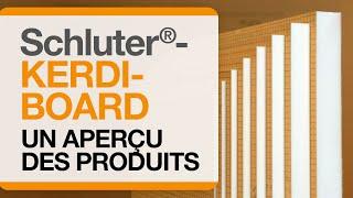Un aperçu des profilés et accessoires Schluter®-KERDI-BOARD.