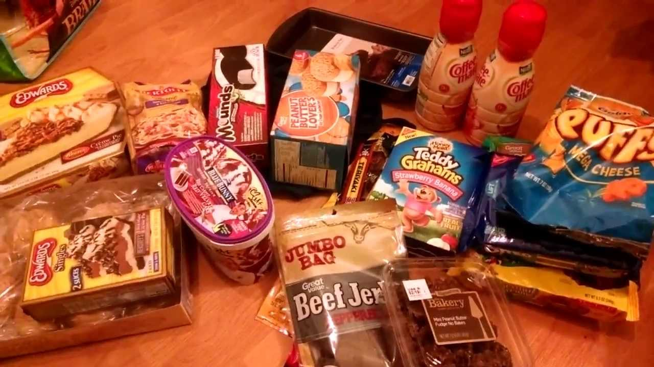Vlog 2014 Walmart American Junk Food Party Snacks Haul Birthday