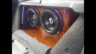 "2 12"" ZV4s in a Honda Accord TRUNK WALL - Sundown Audio Windshield Flex - Shawn Stained His Box!"