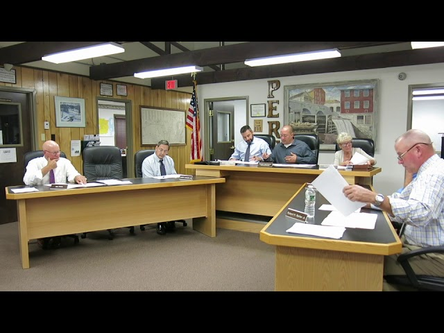 Peru Town Board Meeting  9-9-19