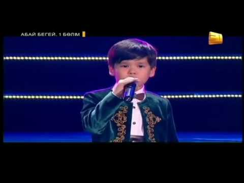 Kazakh kid is singing a song about story of orphan child. Nurmuhammed Zhakyp - lark