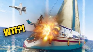 I CALLED AN AIRSTRIKE ON HIS BOAT! *HE HAD NO IDEA!* | GTA 5 #250