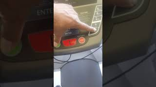 Spirit treadmill ct800 how to reset lube on display.