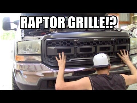 New Raptor Style Grille For 7 3 Powerstroke Youtube
