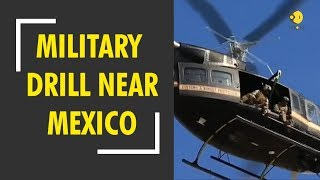 U.S troops perform military drill near Mexico Border