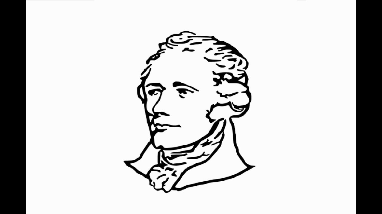How To Draw Alexander Hamilton Face Pencil Drawing Step By Step