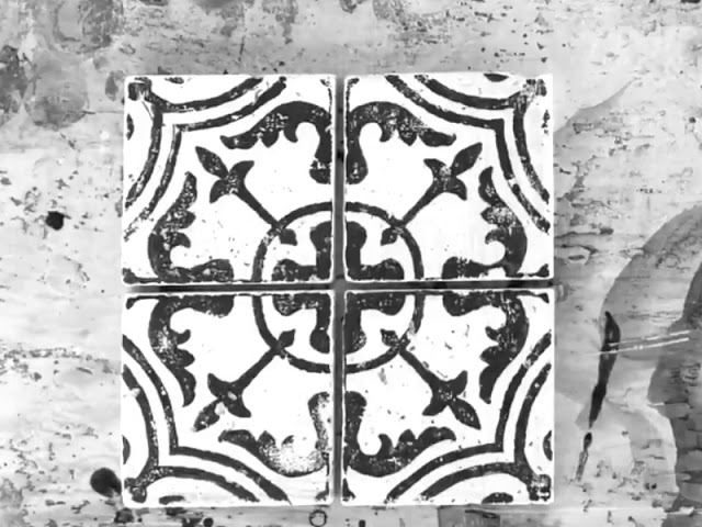 IOD Stamp your way to a custom tile look using IOD Cubano Stamp!