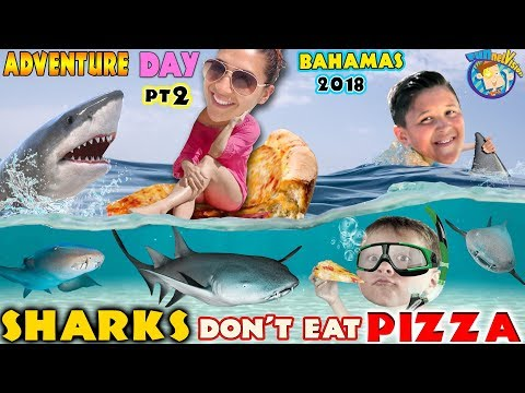 SWIMMING With SHARKS In BAHAMAS! FUNnel Vision Exuma Excursion Tour From ATLANTIS Part 2