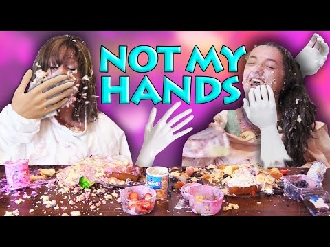 Not My Arms Challenge Baking Disaster w/ Heidi! Huge Mess in FUNkee Bunches Kitchen!