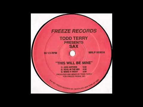 Todd Terry Presents Sax - Jazz Anthem