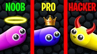 NOOB vs PRO vs HACKER in SLITHER.IO!