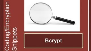 Security Snippets: Bcrypt