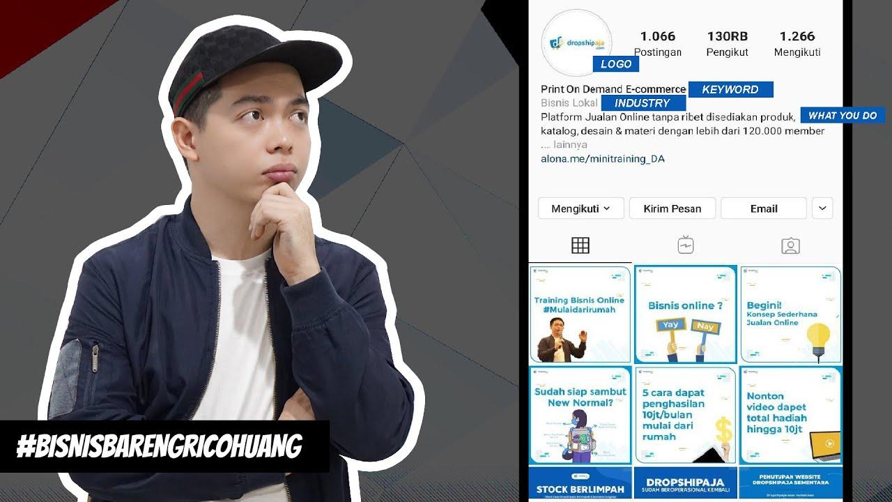 CARA JUALAN DI INSTAGRAM 2020 - Bisnis Bareng Rico Huang