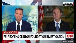 Jake Tapper's T0UGH on Adam Schiff 's Response To Clinton Probe | Y0U'RE The Top Dem, DlD You Ask?