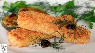 Запечь рыбу в духовке рецепты.Рыбные палочки в духовке