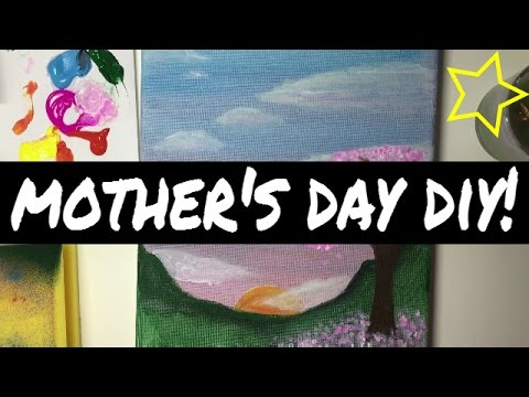 Easy canvas art | Mother's Day DIY