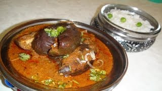Bagare Baingan Or Baingan Kalonji Recipe - Stuffed Baby Eggplant Curry By Bhavna