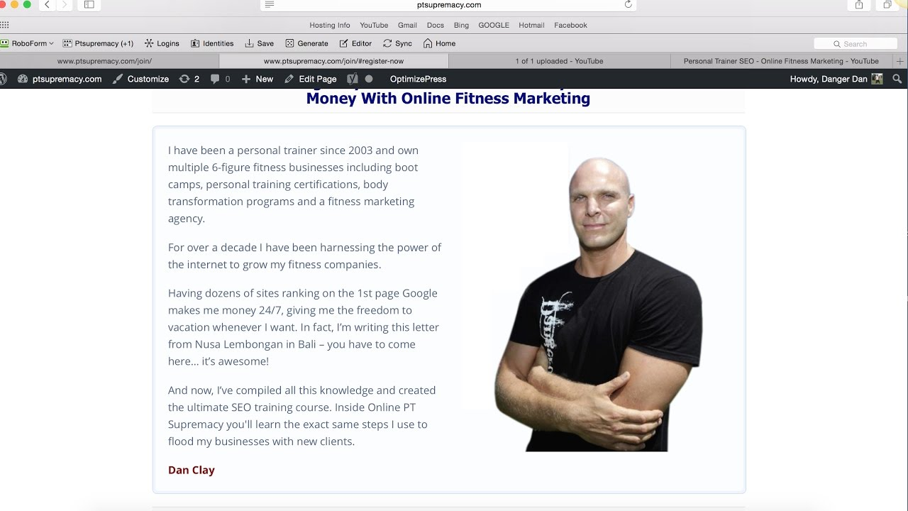 Personal Trainer Seo Online Fitness Marketing Youtube