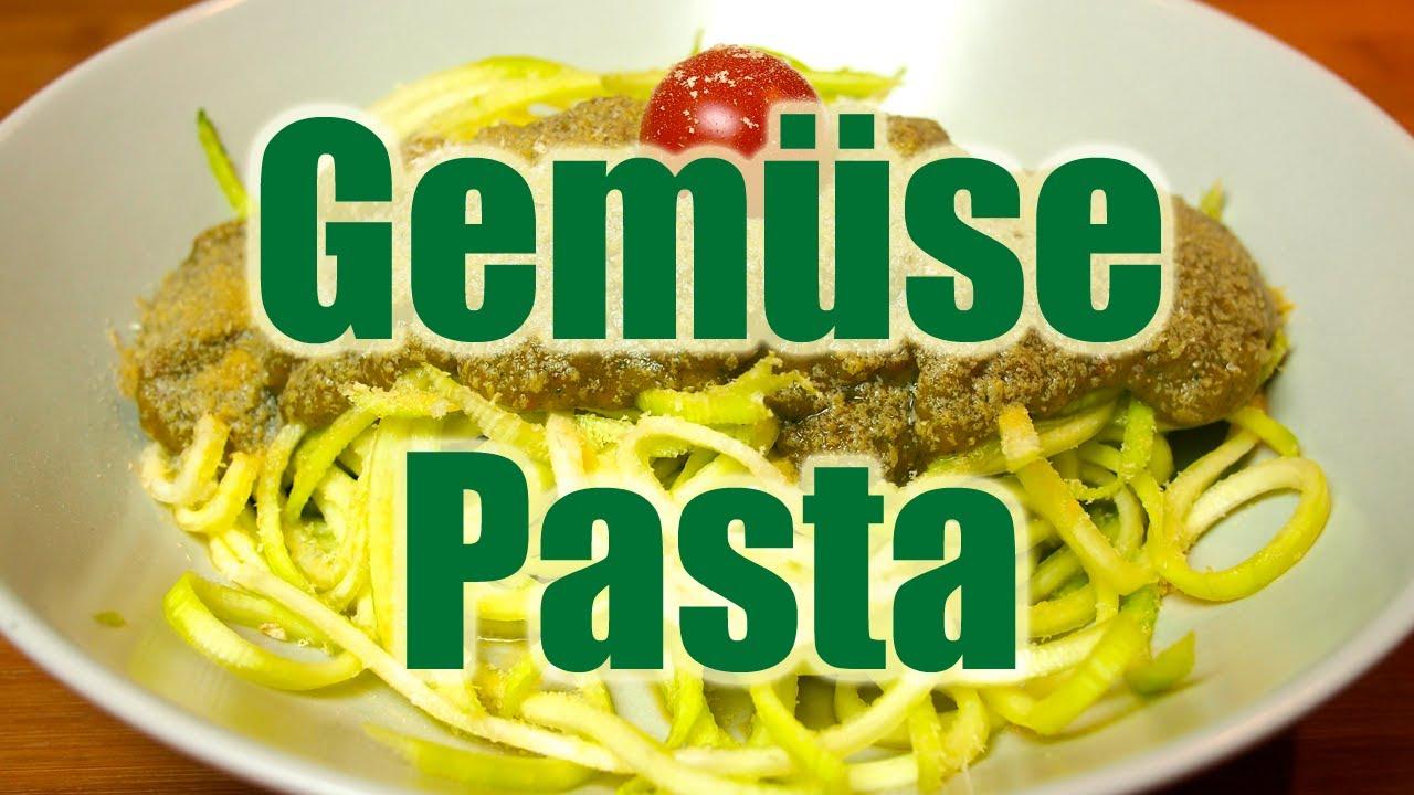 zucchini spaghetti gem se pasta ohne nudeln fettarm vegan vegan youtube. Black Bedroom Furniture Sets. Home Design Ideas