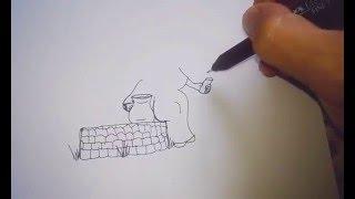 Como Desenhar Jesus pede água a Samaritana