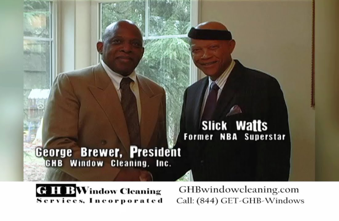 NBA Seattle Superstar Slick Watts endorses GHB Window Cleaning Inc