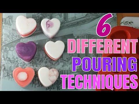 Six Different Pouring Techniques - Lavender Soap - Melt And Pour