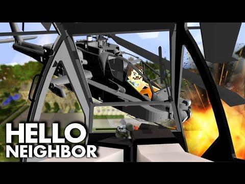 Minecraft Hello Neighbor - Helicopter Battle! Batman Vs Neighbor   Minecraft Roleplay
