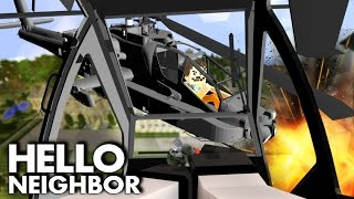 Minecraft Hello Neighbor - Helicopter Battle! Batman Vs Neighbor | Minecraft Roleplay